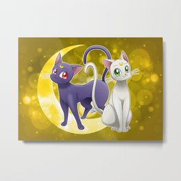 Luna & Artemis (Sailor Moon Crystal edit.) Metal Print