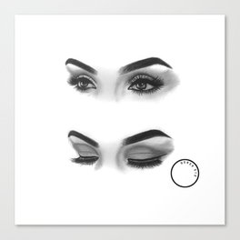 Graphite Eyes Canvas Print