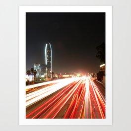 the fast lane Art Print