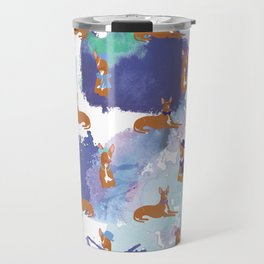 Pharaoh Hounds Pattern Splatters Travel Mug