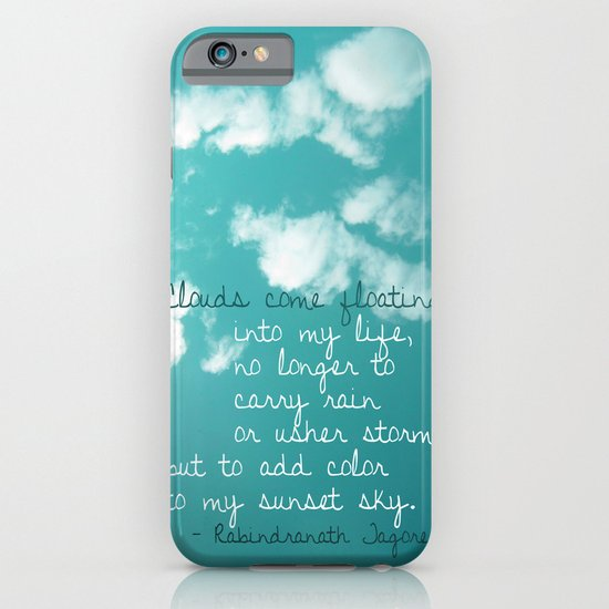 Clouds come floating... iPhone & iPod Case
