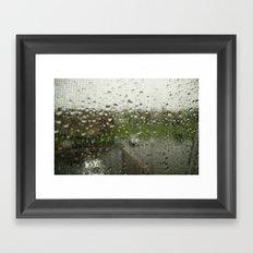 Looking Through the Rain Framed Art Print