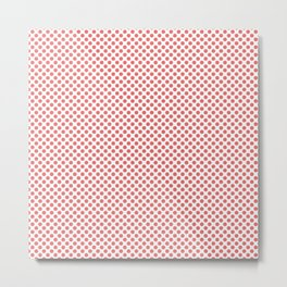 Porcelain Rose Polka Dots Metal Print