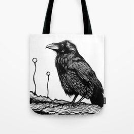 Jovial Raven Tote Bag