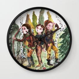 Sarmatian sisters Wall Clock
