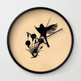 Ohio - State Papercut Print Wall Clock