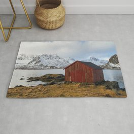 The red shed Rug