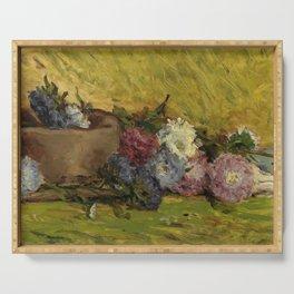 """Paul Gauguin """"Reine-marguerites, chapeau et livre"""" Serving Tray"""