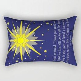 starry sky & crosses (luke 2:10-11)  Rectangular Pillow