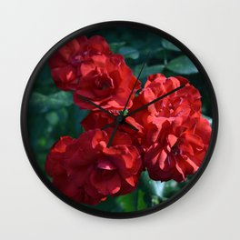 Glorious in Red Wall Clock