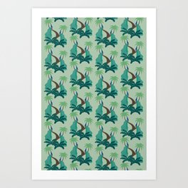 Peacock wrapping paper Art Print