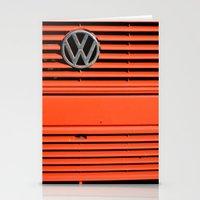 volkswagen Stationery Cards featuring Red Volkswagen by Marieken