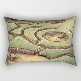 Dark Circles Rectangular Pillow