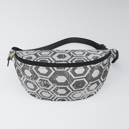 Worn hexagons Fanny Pack