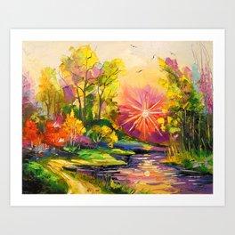The light of the sun Art Print