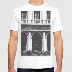 Take a moment White Mens Fitted Tee MEDIUM