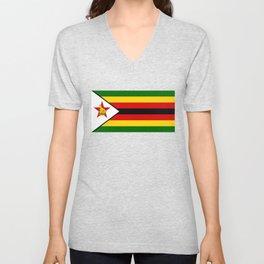 Flag of Zimbabwe Unisex V-Neck
