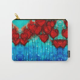 Hearts On Fire - Romantic Art By Sharon Cummings Carry-All Pouch