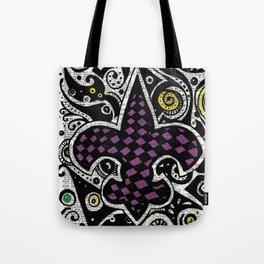 Mardi Gras  (fleur de lis) Tote Bag