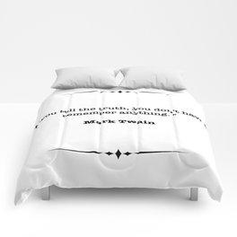 Mark Twain Quote Comforters