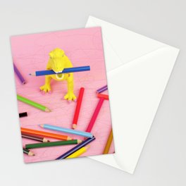 Dinosaur drawing 2 Stationery Cards