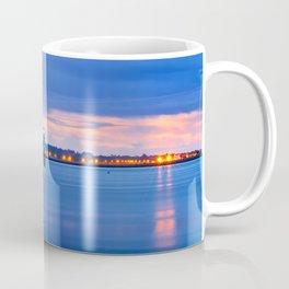 Blue hour. Dublin port Coffee Mug
