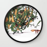 gizmo Wall Clocks featuring GIZMO CACA by olivier silven