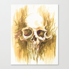 Skull Sketch Canvas Print