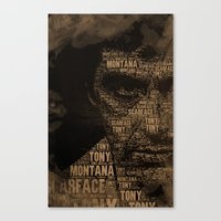 scarface Canvas Prints featuring Scarface by Diego Tirigall