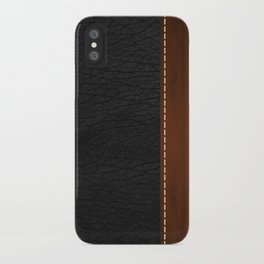 Black Leather look iPhone Case
