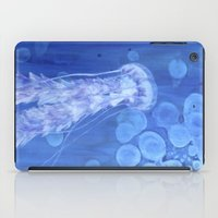 jelly fish iPad Cases featuring Jelly Fish by Lise Dumas Richard