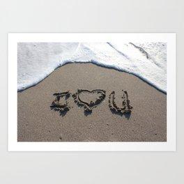 I {heart} U Art Print