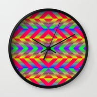 psychedelic Wall Clocks featuring Psychedelic by Texture