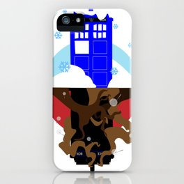 Upside Down Time Travel iPhone Case