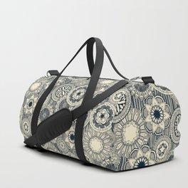 mandala cirque indigo cream Duffle Bag