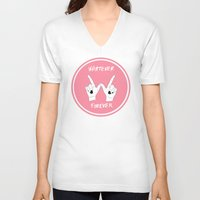 clueless V-neck T-shirts featuring Whatever Forever by T-Hype (julianajace)