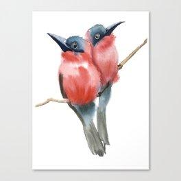 Couple Birds Canvas Print