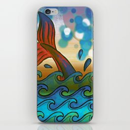 Beach Whale Tail Abstract iPhone Skin