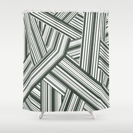 Abstract Crossing Stripes Pattern Shower Curtain