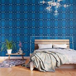 Pattern III Blue Wallpaper