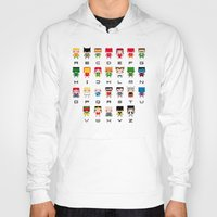 superhero Hoodies featuring Superhero Alphabet by PixelPower