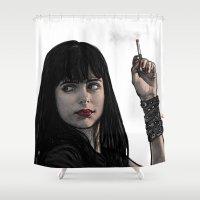 phil jones Shower Curtains featuring JESSIC JONES by zinakorotkova