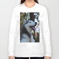 husky Long Sleeve T-shirts featuring Husky. by Saremotion
