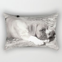 Boxer puppy resting Rectangular Pillow