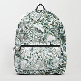 White Diamond Abstract Art Pattern 06 Backpack