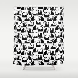 Bad Cats Knocking Stuff Over Shower Curtain