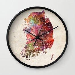 Souh Korea map 2 Wall Clock