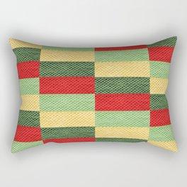 Fabric coarse texture rough red Rectangular Pillow