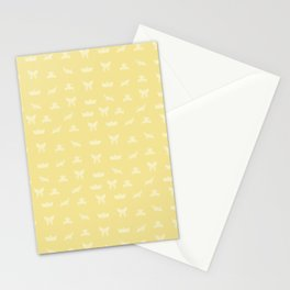 Japanese Culture - Yellow Origami Pattern Stationery Cards
