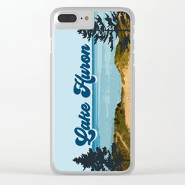 Lake Huron Retro Clear iPhone Case